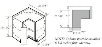 Upper Corner Cabinet Dimensions Neoteric Corner Cabinet Dimensions Modest Ideas Upper Corner