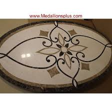 waterjet oval medallion design 7 medallionsplus com floor