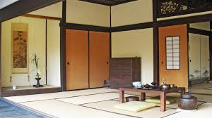 furniture traditional japanese living room with brown wood