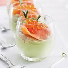 cuisine verrine verrines à la mousse d avocats lime et truite fumée recettes