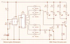 police lights strobe circuit diagram 555 circuit pinterest