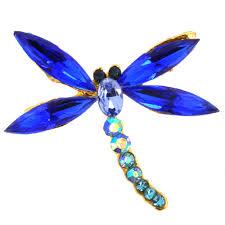 sapphire blue dragonfly pin fantasyard costume jewelry u0026 accessories