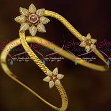 south indian bridal hair accessories online ar11432 gold plated ad traditional bajuband armlet south