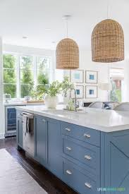 most popular blue paint color for kitchen cabinets blue cabinet paint colors our kitchen makeover
