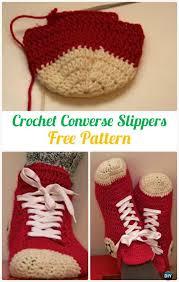 pattern crochet converse slippers crochet men slippers shoes free patterns instructions
