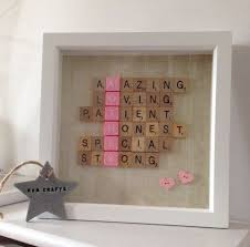 Girly Cool Things To Buy Cheaper Than A Shrink by 33 Thoughtful Diy Mother U0027s Day Gifts Scrabble Letters Scrabble