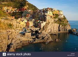 Italy Houses Manarola Italy Europe Liguria Cinque Terre Sea Mediterranean