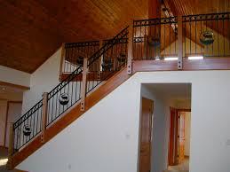 black iron rustic stair railing hybrid log by dickinson homes
