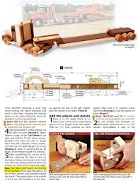 Making Wooden Toy Trucks by 1791 Wooden Truck And Trailer Plan Wooden Toy Plans Wooden Toy