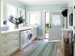 Laundry Room Decorating Ideas by Laundry Room With Light Wall Color And Stripes Rug Laundry Room