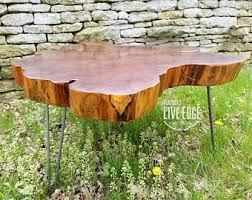 Oak Slab Table by Slab Table Etsy