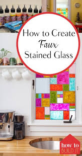 faux stained glass kitchen cabinets how to create faux stained glass how to build it