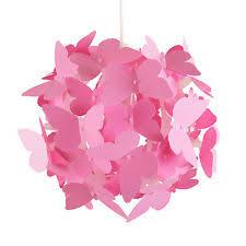 Girls Bedroom Lamp Modern Pink Butterflies Ceiling Pendant Light Lamp Shade Girls