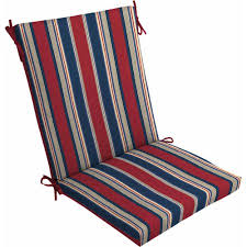 White Patio Cushions by Mainstays Outdoor Dining Chair Cushion Red White Blue Stripe
