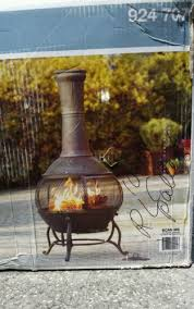 Hampton Bay Outdoor Fireplace - hampton bay outdoor fire pits 54 in cast iron chiminea patio