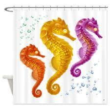 Seahorse Shower Curtain 23 Best Shower Curtains I Like Images On Pinterest Octopus
