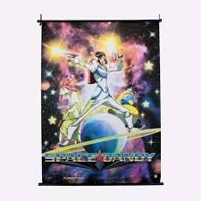 space dandy dandy meow qt wall scroll home decor