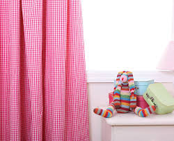 Pink Pleated Curtains Gingham Shower Curtain New Interiors Design For Your Home