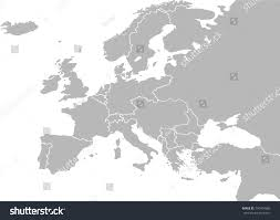 Map Of Europe 1914 Europe Map Vector Country Borders Before Stock Vector 730764385