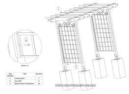 Diy Trellis Arbor Garden Arbor Plans