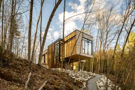 beauty in harmony cantilevered lake cottage with white cedar
