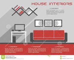 house interior design template stock vector image 45581297