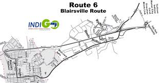 Map Route Route 6 Route Map Indigobus Com