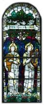 octagon stained glass window pair of pre raphaelite stained glass windows at 1stdibs