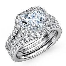 what are bridal set rings best 25 heart diamond rings ideas on heart shaped