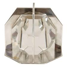 modern desk accessories boris lacroix art deco glass and chrome paperweight modern desk
