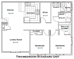 two bedroom apartment plan lovely on bedroom for 20 awesome 3d