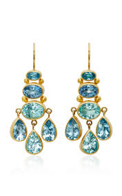 Ralph Lauren Chandelier Fashion Earrings Moda Operandi Aquamarine And Paraiba Tourmaline Chandelier Earrings