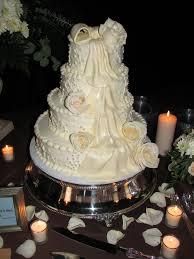 Wedding Cakes Elegant Ivory Wedding Cake Celebration Advisor