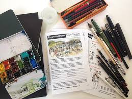 packing my sketch kit for manchester people and places life in