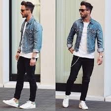 light blue denim jacket mens how to wear a light blue denim jacket 56 looks men s fashion
