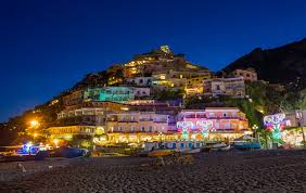 Italy Houses by Photo Positano Italy Boats Night Time Street Lights Cities Houses