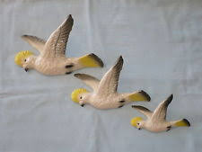 vintage set of 3 ceramic china flying wall ducks ebay
