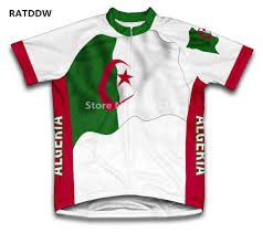 New Jersy Flag New 2017 Team Algeria Flag Cycling Jersey Men Cycling Clothing