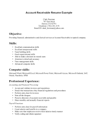 Warehouse Resume Skills Examples Accounts Receivable Duties Resume Resume For Your Job Application