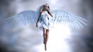 muchacha hermosa del ángel ropa blanca y alas fondos de pantalla