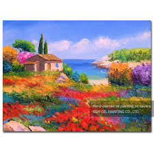 Flower Garden App by Compare Prices On Spring Flower Oil Painting Online Shopping Buy