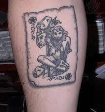 grey ink joker card tattoo design tattoos book 65 000 tattoos