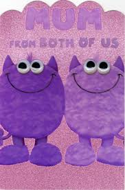 to mum from both of us my monster mother u0027s day card cards love