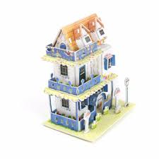 3d garden villa puzzle children hand make cute home building