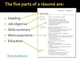 Job Getting Resumes by Vibrant Inspiration Parts Of A Resume 3 Getting The Job You Want