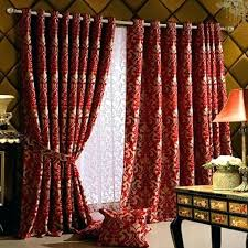 Grommet Kitchen Curtains Red Patterned Curtains U2013 Teawing Co