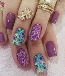 purple flower nail art posh nail art kawaii pinterest