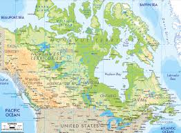 Italy Physical Map by Detailed Physical Map Of Canada Canada Detailed Physical Map