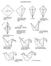 origami rooster instructions google search origami pinterest