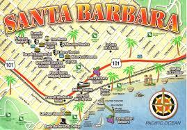 santa barbara california map santa barbara california map postcard a photo on flickriver